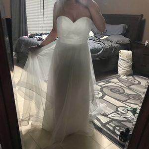 "Dresses & Skirts - Altered wedding dress to 5' 2"""